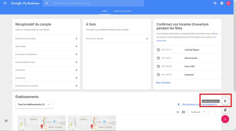 ajouter son entreprise sur google map