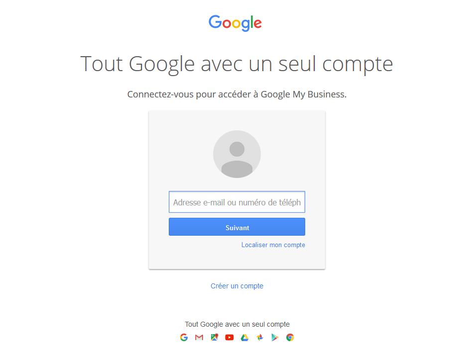 page connexion google business