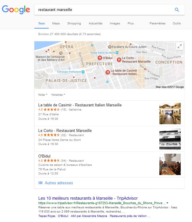 apparaitre sur google map dans les résultats locaux