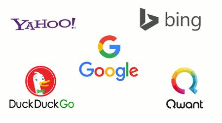 differents moteurs de recherche
